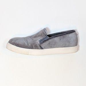 STEVE MADDEN Grey Velvet Slip On Sneaker